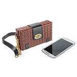Smart Phone Grand Woven Leather Bag