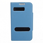 Samsung Galaxy S III I9300 Ultra Slim Side Open Leather Case With Display Caller ID And Answer Call