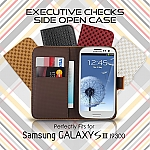 Samsung Galaxy S III I9300 Executive Checks Side Open Case