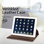 Wrinkled Leather Case for The new iPad (2012)