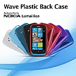 Nokia Lumia 610 Wave Plastic Back Case