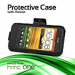 HTC One V Protective Case with Holster