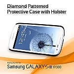 Samsung Galaxy S III I9300 Diamond Patterned Protective Case with Holster