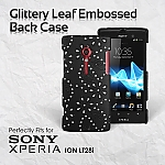Sony Xperia ion LT28i Glittery Leaf Embossed Back Case