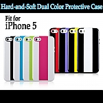 Momax iPhone 5 / 5s iCase Hard-and-Soft Dual Color Protective Case