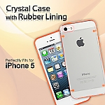 iPhone 5 / 5s / SE Crystal Case with Rubber Lining