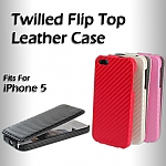 iPhone 5 / 5s / SE Twilled Flip Top Leather Case