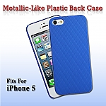 iPhone 5 / 5s / SE Metallic-Like Plastic Back Case