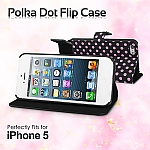 iPhone 5 / 5s Polka Dot Flip Case