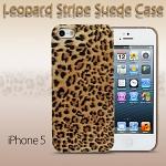 iPhone 5 / 5s / SE Leopard Stripe Suede Case