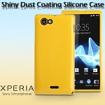 Sony Xperia J ST26i Shiny Dust Coating Silicone Case