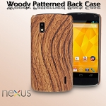 Google Nexus 4 E960 Woody Patterned Back Case