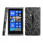 Nokia Lumia 920 Glittery Leaf Embossed Back Case