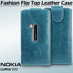 Nokia Lumia 920 Fashionable Flip Top Leather Case