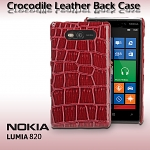 Nokia Lumia 820 Crocodile Leather Back Case