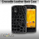 Google Nexus 4 E960 Crocodile Leather Back Case