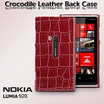 Nokia Lumia 920 Crocodile Leather Back Case