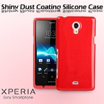 Sony Xperia T LT30p Shiny Dust Coating Silicone Case