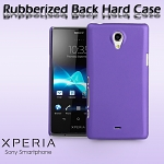 Sony Xperia T LT30p Rubberized Back Hard Case