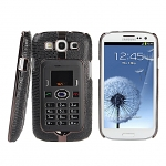 Samsung Galaxy S III I9300 Snake Skin Back Case with Detachable Mini Mobile Phone