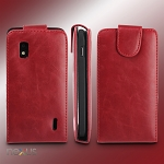 Google Nexus 4 E960 Fashionable Flip Top Leather Case