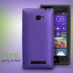 HTC Windows Phone 8X Rubberized Back Hard Case