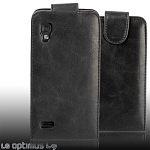 LG Optimus L9 P765 Fashionable Flip Top Leather Case