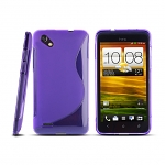 HTC One SC Wave Plastic Back Case