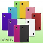 Google Nexus 4 E960 Rubberized Back Hard Case