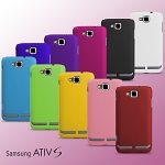 Samsung ATIV S I8750 Rubberized Back Hard Case