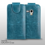 Samsung Galaxy S DUOS S7562 Fashionable Flip Top Faux Leather Case