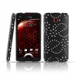 HTC Droid DNA Glittery Leaf Embossed Back Case