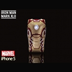 iPhone 5 / 5s MARVEL Iron Man Mark XLII (42) Protective Case with LED Light Reflector (Limited Edition)