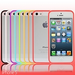 iPhone 5 / 5s / SE Transparent Case w/ Rubber Lining