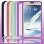 Samsung Galaxy Note II Transparent Case w/ Rubber Lining
