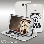 Samsung Galaxy Note II GT-N7100 Star Wars - Stormtrooper Leather Flip Case (Limited Edition)