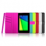 Leather Flip Case with Suction Pad for Google Nexus 7 (2013)