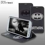 Samsung Galaxy Note II GT-N7100 DC Comics Heroes - Batman Leather Flip Case (Limited Edition)