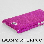 Sony Xperia C Glitter Plactic Hard Case