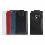 Samsung Galaxy Ace Duos Fashionable Flip Top Faux Leather Case