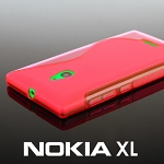 Nokia XL Wave Plastic Back Case