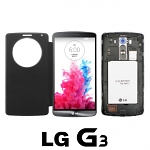 Replacement Back Cover with Flip Cover for LG G3