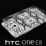 HTC One (E8) Faux Snake Skin Back Case