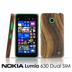 Nokia Lumia 630 Dual SIM Woody Patterned Back Case