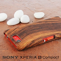 Sony Xperia Z3 Compact Woody Patterned Back Case