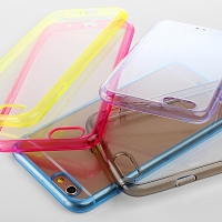 iPhone 6 Soft Case with Fluorescent Bumper