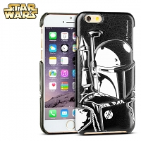 iPhone 6 / 6s Star Wars - Boba Fett Leather Back Case