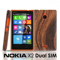 Nokia X2 Dual SIM Woody Patterned Back Case
