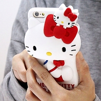 iPhone 6 3D Hello Kitty Silicon Case