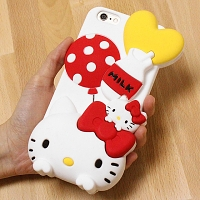 iPhone 6 Plus 3D Hello Kitty Silicon Case